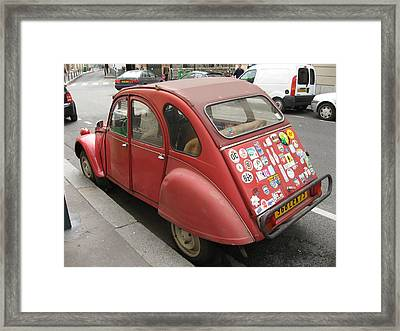 Red Car Framed Print by James Lukashenko