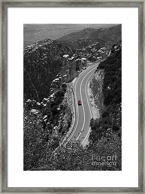 Red Car Framed Print by Jim Wright