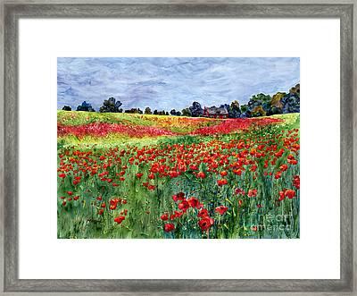 Red Carpet Framed Print