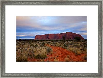 Red Center Dawn Framed Print