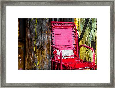 Red Chair In Alley Ver4 Dsc2997 Framed Print