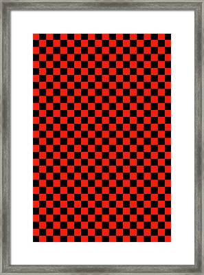 Red Checker Board Framed Print by Daniel Hagerman