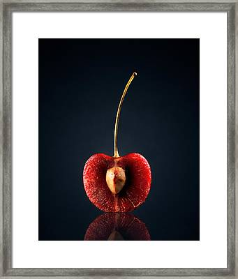 Red Cherry Still Life Framed Print by Johan Swanepoel
