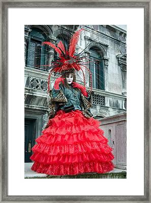 Red Framed Print by Cheryl Schneider