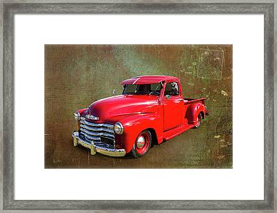 Red Chev Framed Print