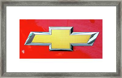 Red Chevy Bowtie Framed Print