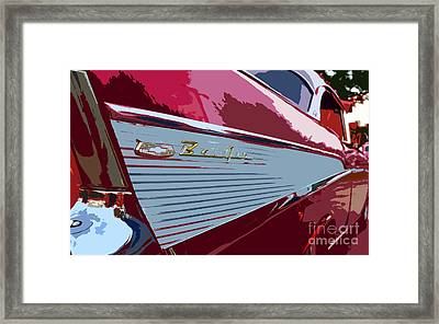 Red Chevy Framed Print by David Lee Thompson