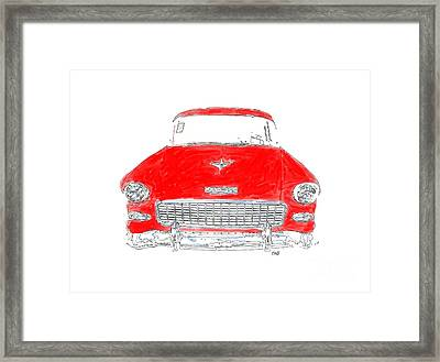 Red Chevy T-shirt Framed Print by Edward Fielding