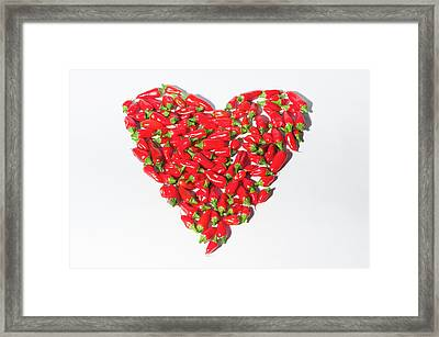 Red Chillie Heart II Framed Print