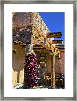 Red Chillies At New Years Framed Print