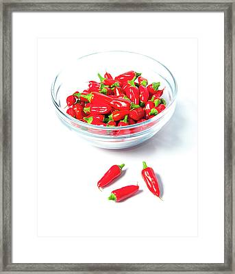 Red Chillies In A Bowl II Framed Print