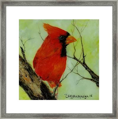 Framed Print featuring the painting Red by Christie Minalga