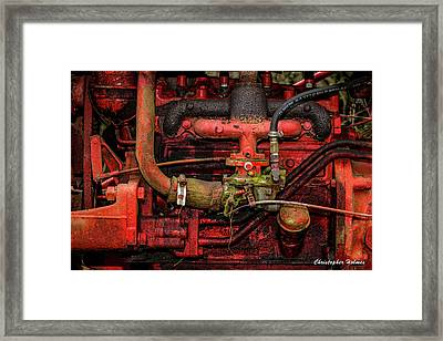 Red Framed Print by Christopher Holmes