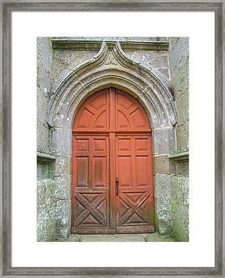 Red Church Door IIi Framed Print by Helen Northcott