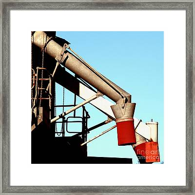 Framed Print featuring the photograph Red Chutes by Stephen Mitchell