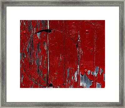 Red Circle Framed Print