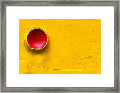 Red Circle In The Corner Framed Print