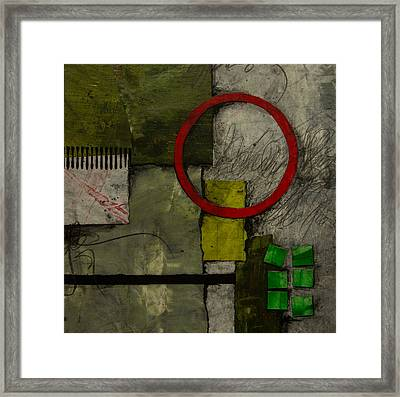 Red Circle No.1 Framed Print by Laura  Lein-Svencner