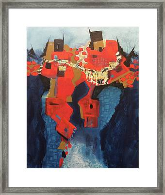 Red City Framed Print