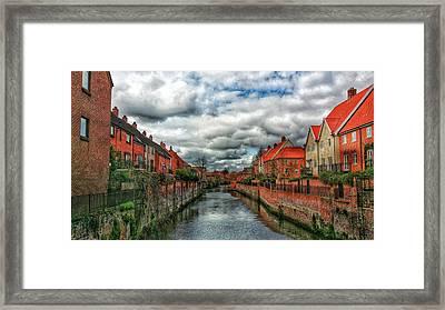 Red City  Framed Print