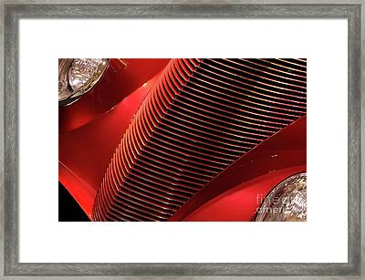 Red Classic Car Details Framed Print by Oleksiy Maksymenko