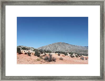 Red Clay Hillsides Framed Print