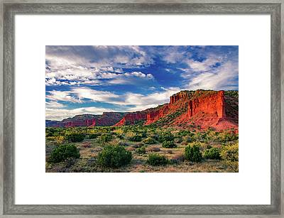 Red Cliffs Of Caprock Canyon 2 Framed Print