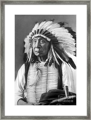 Red Cloud, Dakota Chief, Wearing A Headdress, 1880s Framed Print by David Frances Barry