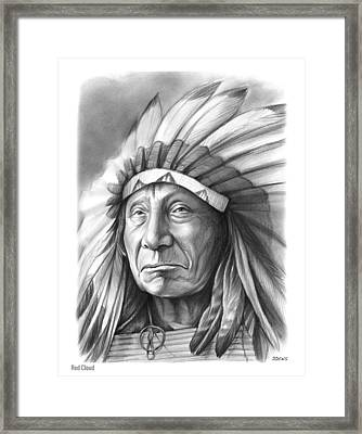 Red Cloud Framed Print by Greg Joens