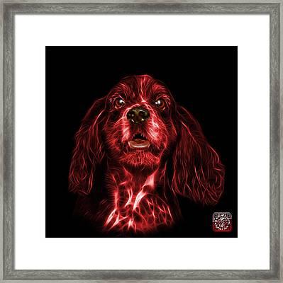 Red Cocker Spaniel Pop Art - 8249 - Bb Framed Print