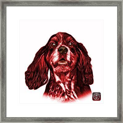 Red Cocker Spaniel Pop Art - 8249 - Wb Framed Print