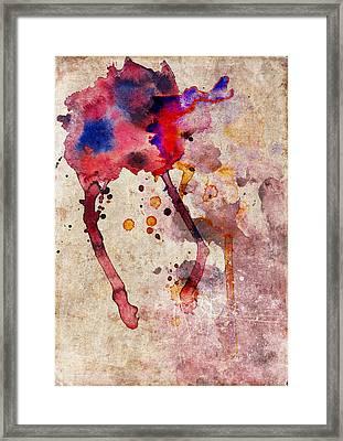 Red Color Splash Framed Print