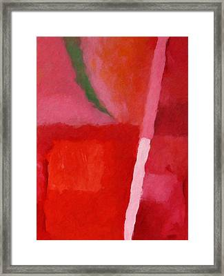 Red Colorchord Framed Print