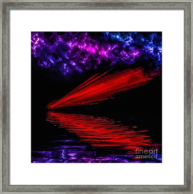 Red Comet Framed Print by Naomi Burgess