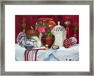 Red Composition No. 4 Framed Print