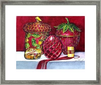 Red Composition No 5 Framed Print