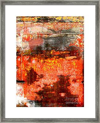 Red Corner Abstract By Darian Day Framed Print