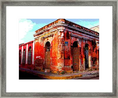 Red Corner By Darian Day Framed Print by Mexicolors Art Photography
