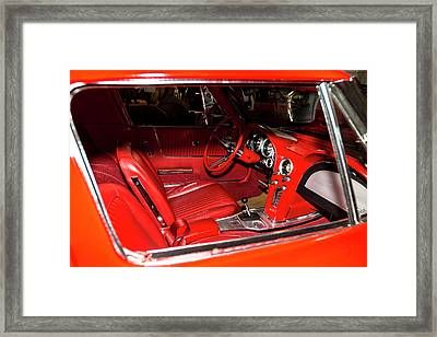 Red Corvette Stingray Framed Print