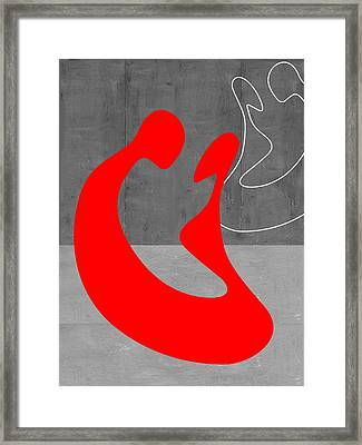 Red Couple Framed Print by Naxart Studio