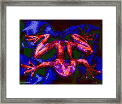 Red Crunchy Frog Framed Print