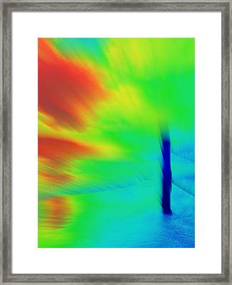 Red Cyclone Framed Print by Rose  Hill