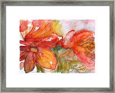 Red Dance Framed Print by Jasna Dragun
