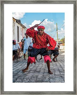 Red Dancer Framed Print by Robin Zygelman