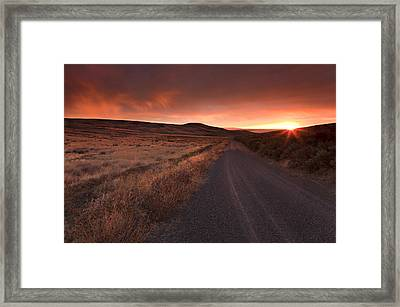 Red Dawn Framed Print by Mike  Dawson