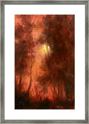 Red Dawn Ridgefield Refuge Framed Print