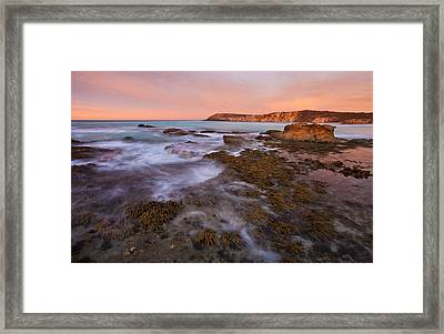 Red Dawning Framed Print by Mike  Dawson