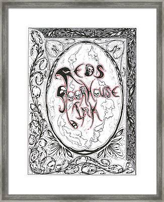 Red Framed Print by Derek Hayes