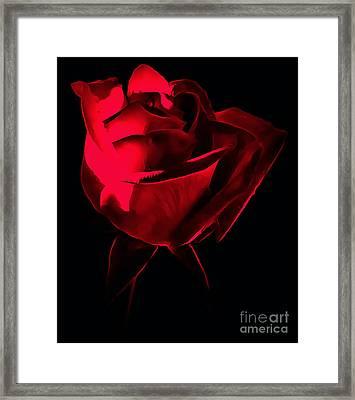 Red Desire Framed Print by Krissy Katsimbras