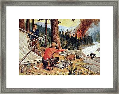 Red Demon Of The Forest Framed Print